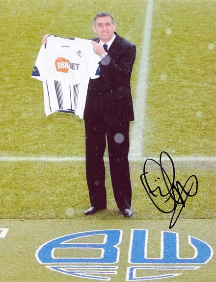 Owen Coyle, Bolton Wanderers, signed 10x8 inch photo.